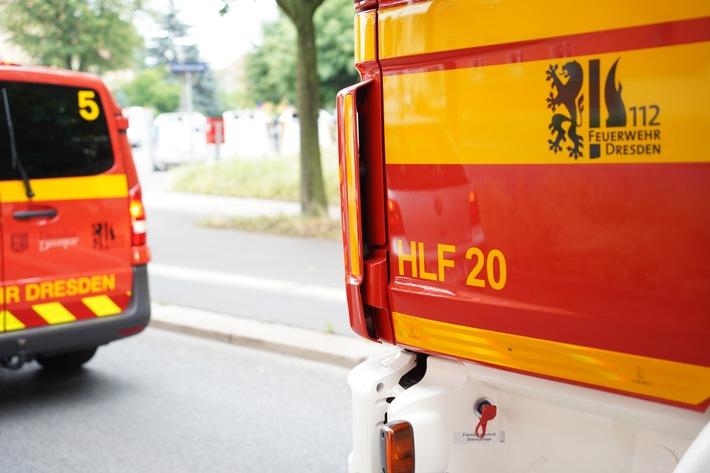 FW Dresden: Informationen zum Einsatzgeschehen der Feuerwehr Dresden vom 26. Juli 2021