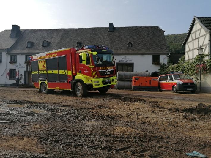 FW Konstanz: Feuerwehren aus dem Landkreis Konstanz waren in Rheinland-Pfalz im Katastrophengebiet im Einsatz (FOTO)