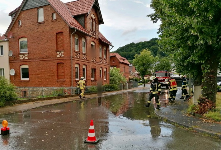 FW-PB: Starkregen in der Gemeinde Altenbeken