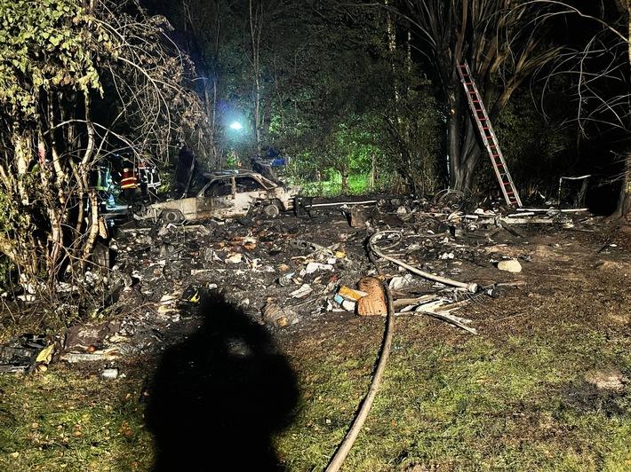 FW-ROW: Feuer auf Campingplatz