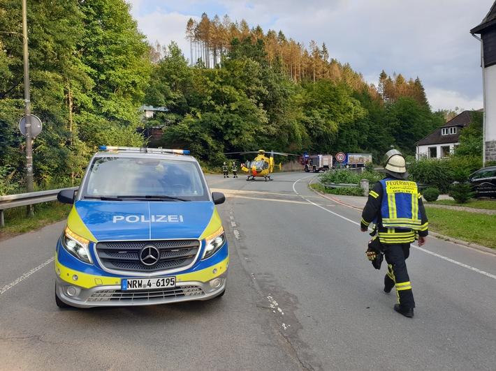 FW Schalksmühle: Verkehrsunfall - Fahrschülerin schwer verletzt