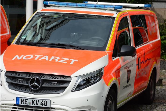 POL-ME: Schwer verletzt durch Riss der Fahrradkette - Ratingen - 2109016