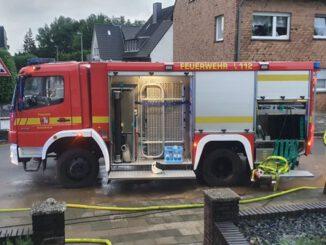 FW Grevenbroich: Mehrere Wassereinsätze nach Starkregen in Langwaden und Umgebung