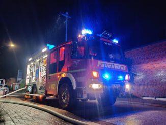 FW-SE: Dachstuhlbrand eines Abbruchhauses