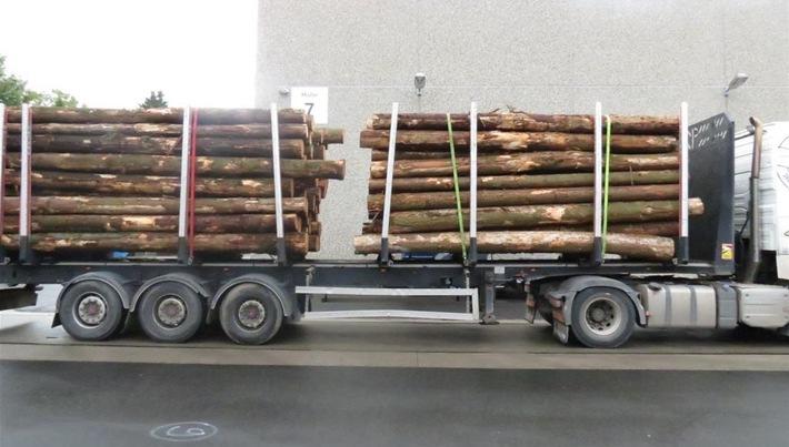 POL-PPTR: Schon wieder missachten Fahrer von Holztransporten die gesetzlichen Vorgaben