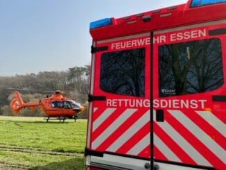 FW-E: Achtzehn Monate altes Kind verbrüht - Rettungshubschrauber im Einsatz